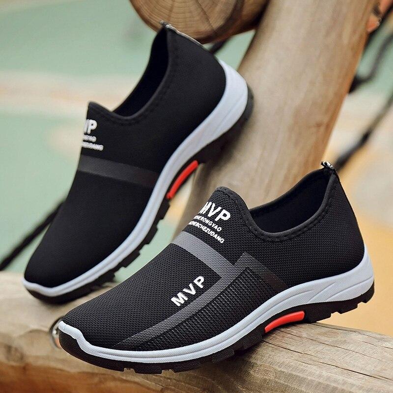Sapatos masculinos 2019 tênis masculinos sapatos casuais sapatos de malha respirável mocassins tênis masculino primavera verão