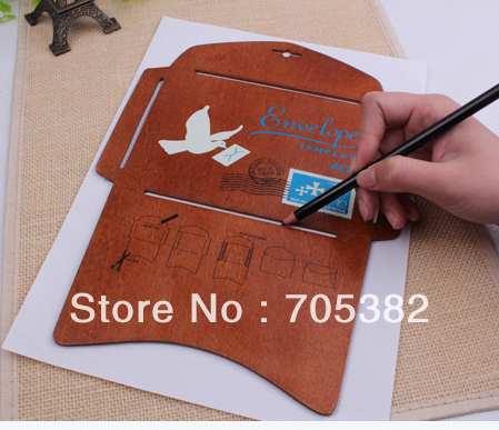 New big size wooden envelope template, 197 x 28cm, Manual stencil - shipping manual template