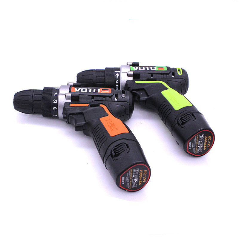 VOTO 12V Power Tools Battery Electric Drill Electric Cordless Drill Electric Drilling Screwdriver With Mini Lithium Battery