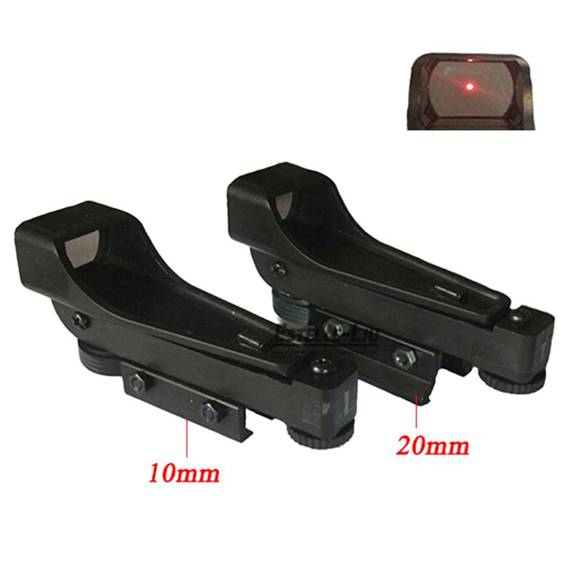 Tactique Red Dot Sight Reflex sight Portée Large Vue Pistolet À Air 10/20mm Weaver Rail Mount 1x20x30 Lunette de Tir Airsoft
