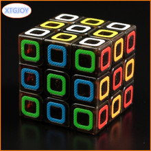 1Pcs Classic Toys Cube 3x3 ABS Sticker Block Puzzle Speed Magic Cube Package Learning Educational Puzzle