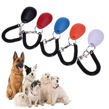 1 sztuka kot domowy Dog clicker do szkolenia plastikowe nowe psy Click Trainer pomoc zbyt regulowany pasek na nadgarstek dźwięk breloczek tanie i dobre opinie Szkolenia Clickers Z tworzywa sztucznego Pet Dog Clicker approx 6 5x4 3x2cm 2 55x1 69x0 78in Pet Bark Deterrents Trainer