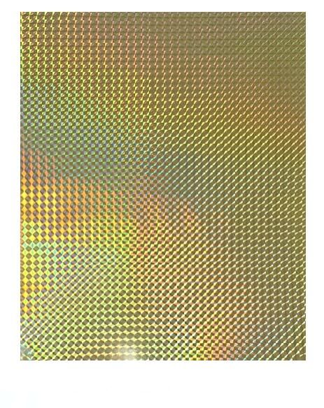2/10/30/50 <font><b>Sheets</b></font> <font><b>A4</b></font> Holographic Golden Grid Glossy Iridescent Sticky Adhesive <font><b>Vinyl</b></font> <font><b>Sticker</b></font> For Scrapbooking Craft Decoration image