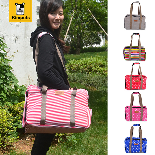 2016 New Canvas Casual Dog Travel Carrier Bags 6 Colors Portable Tote Shoulder Dog Bags Carrier for Dog Folding Breathable Bag