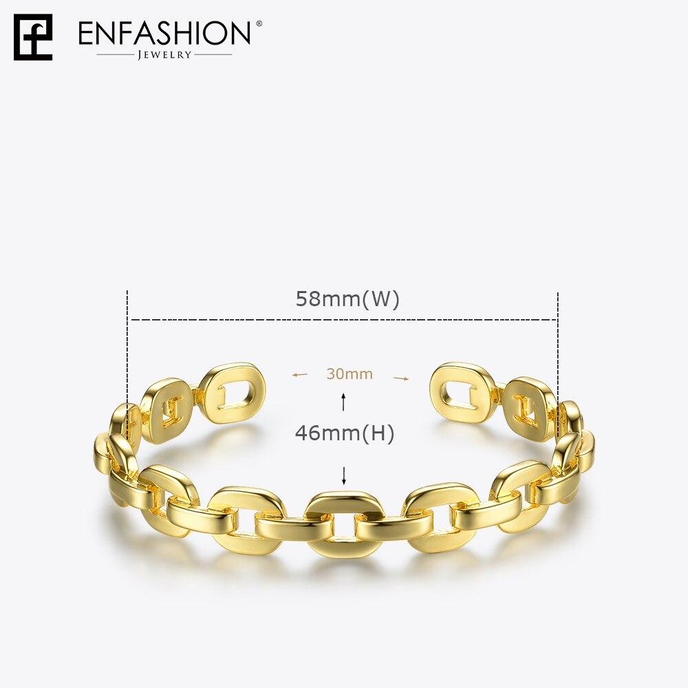 Купить enfashion чистая форма маленькая цепочка браслеты на запястье