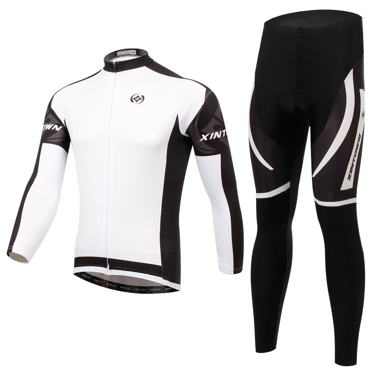 XINTOWN Dimon white riding suit jersey long sleeve suits spring and autumn moisture wicking quick-drying clothes pants