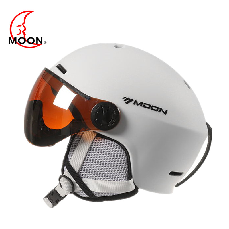 MOON Goggles Skiing Helmet Integrally Molded PC EPS Colorful Ski Helmet Outdoor Sports Ski Snowboard Skateboard