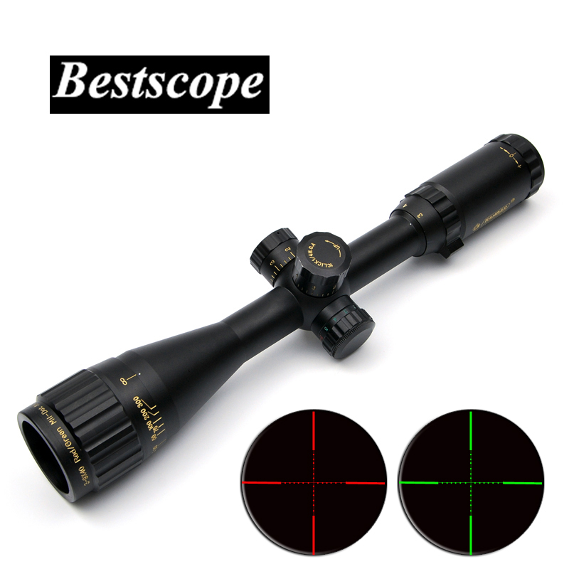 KANDAR 3-9X40 Golden Marking Tactical Optical Riflescope Red Green Dot Sight Scope Airsoft Hunting Scopes Rifle 3 9x40 hunting optics riflescope red green dot laser illuminated sight scope chasse tactical rifle airsoft air guns rifle scopes