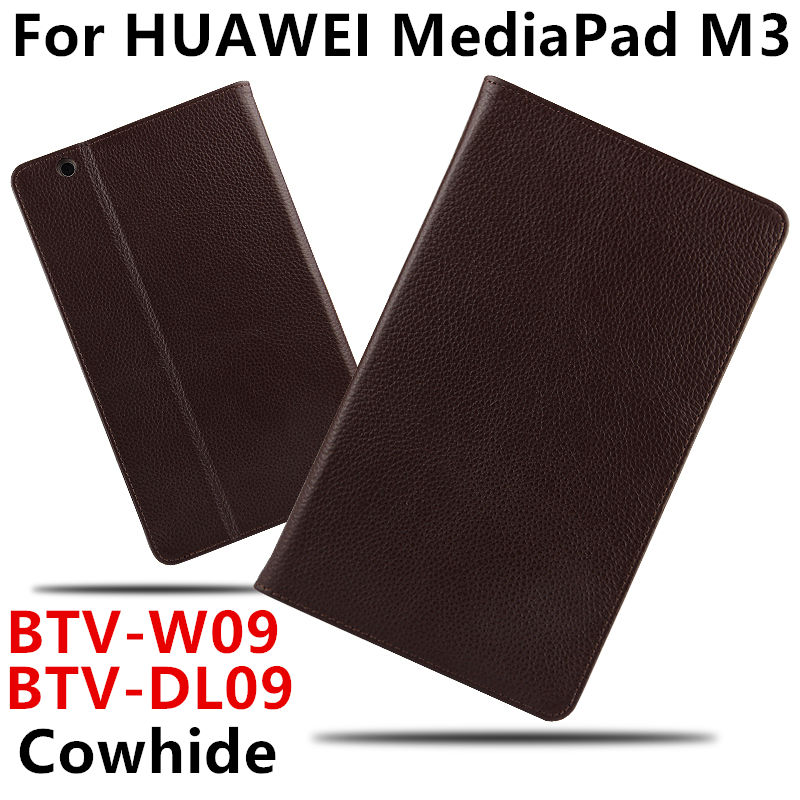 Case Cowhide For Huawei MediaPad M3 Smart cover Genuine Leather Tablets Protective 8.4 inch For HUAWEI M3 BTV-W09/DL09 Protector for huawei mediapad m3 8 4 multifunction removable wireless bluetooth keyboard case for huawei m3 btv w09 btv dl09
