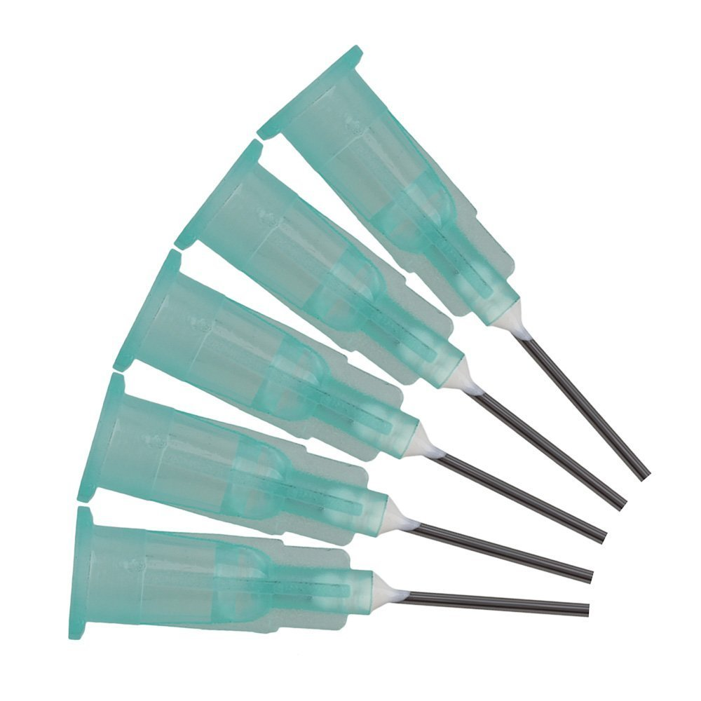 150 stücke 1//2 /'/'Kunststoff Stecken Anschluss Edelstahl Dispenser Nadeln Flüssigkeit Adhesive Kleber Spritze /(21Ga/)