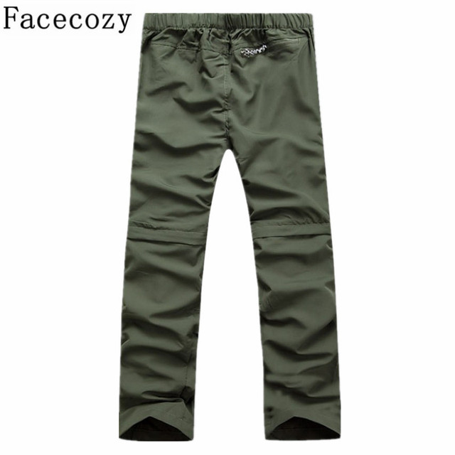 Men Quick Dry Outdoor Pants Removable Hiking&Camping Pants Male Summer Breathable Hunting&Climbing Pants S-XXXL 4 Color 2