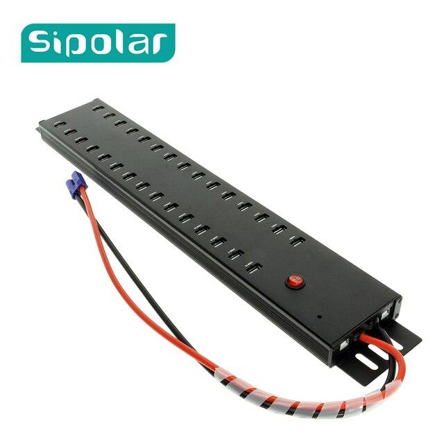Sipolar hub USB 2.0 de qualité industrielle à grande vitesse pour tablettes et smartphones, charge et synchronisation des données, 30 ports, a 812