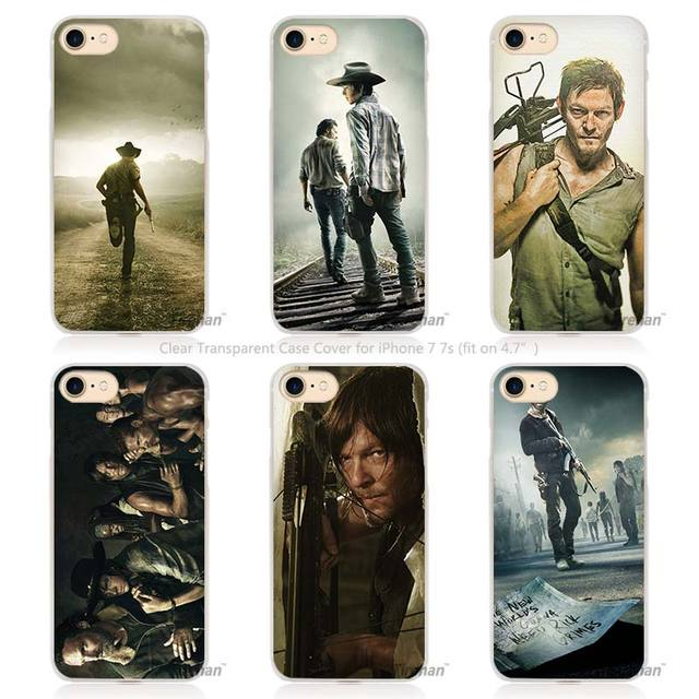 The Walking Dead Hard Transparent Phone Case Cover for Apple iPhone 4 4s 5 5s SE 5C 6 6s 7 P