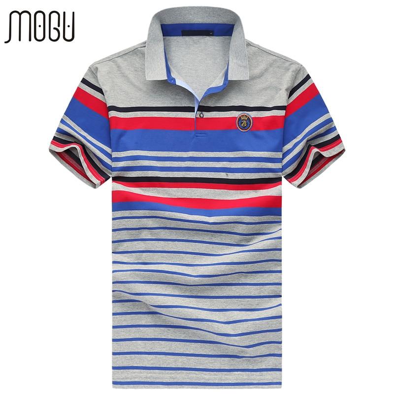 Mogu moda tarja camisa polo homens 2017 verão nova camisa polo com mangas  curtas plus size 6xl polo dos homens da marca polo dos homens camisa 339dd7297cd77