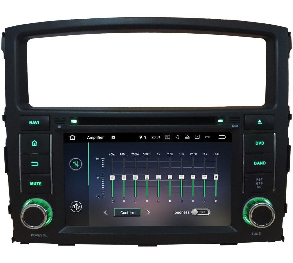 "7"" Android 7.1 Quad Core 2GB RAM 3G/4G Wifi DAB SWC Car DVD Player Radio GPS Navi Stereo For Mitsubishi Pajero V97 V93 2006-16"