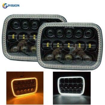 Truck Accessories Rectangular 7 inch led headlight High/Low beam DRL 12V Headlamp for Jeep Cherokee XJ GMC K2500 K3500