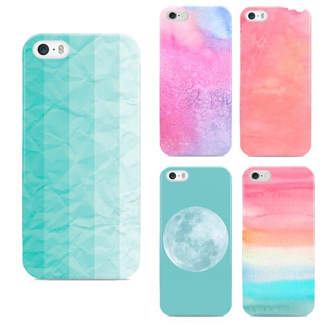 Us 32 Nuvole Colorate Copertura Del Telefono Per Il Iphone 6 Più Blu Sfondo Luna Coperture Del Telefono Per Apple Phone 6 Casi In Nuvole Colorate