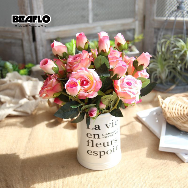 1PC τεχνητό βελούδο τριαντάφυλλο 3 - Προϊόντα για τις διακοπές και τα κόμματα - Φωτογραφία 2