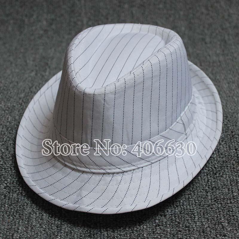 Moda negro Fedora sombreros rayas blanco bailando Jazz gorras niños 10  unids lote envío libre PRXB-008 b4ce9e9c64a1