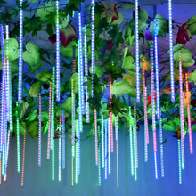 30CM/50CM LED Meteor Shower Light String Christmas Garland OutdoorFor Garden Fairy Tale Wedding Decoration Waterproof