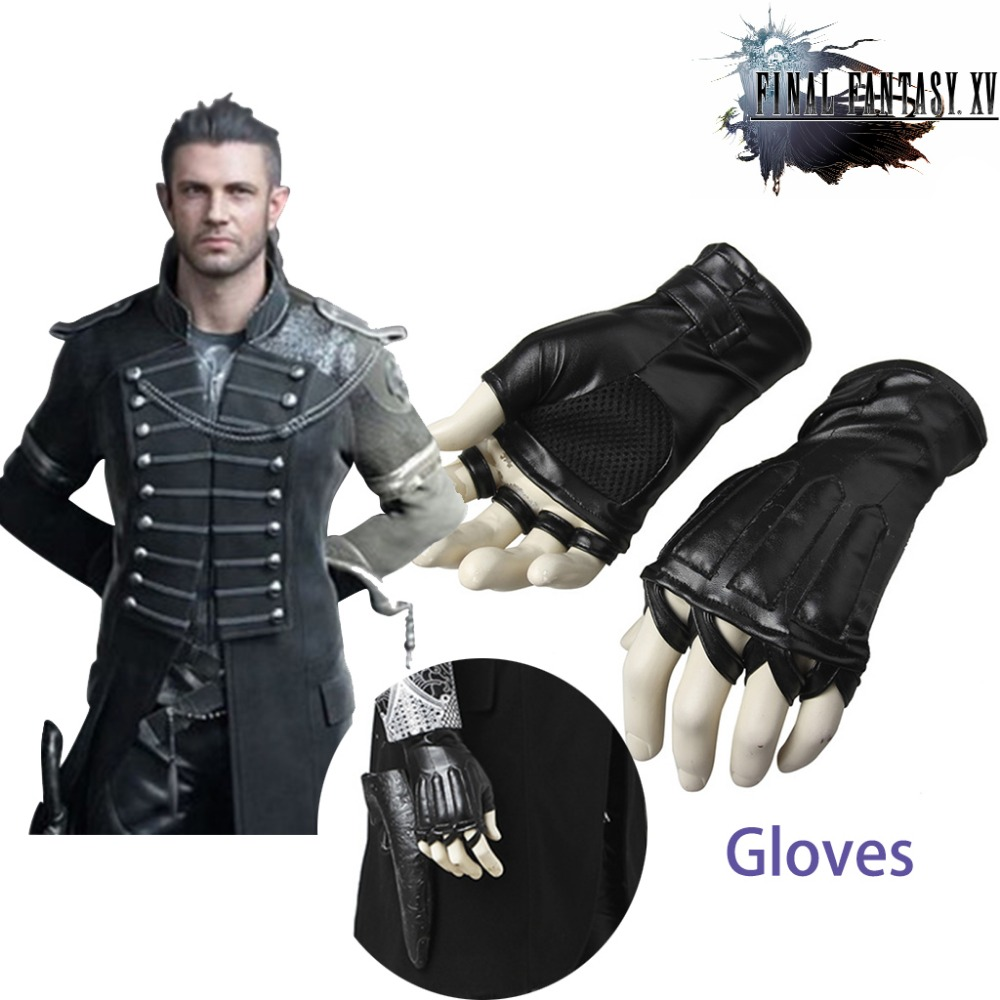Cosplaydiy Final Fantasy XV Cosplay Noctis Lucis Caelum Cosplay Gloves Adult Men Halloween Costume Accessories Props