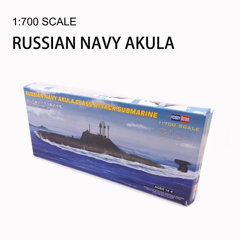 1:700 Russian Navy Akula Class Attack Submarine Military Assembly Ship Model 87005