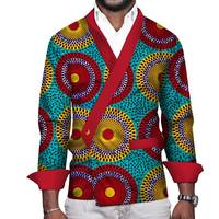 Custom Shirts African Men Clothes Bazin Riche Men African Print Shirt Traditional African Clothing Patchwork Top WYN165