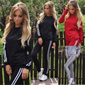 2017 Women's fashion sportswear women tracksuit sportswear set Autumn&Winter Leisure Pants Hoodies  Suit sportswear pullover