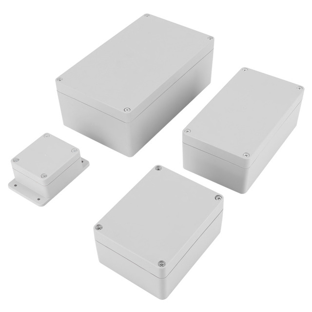 1Set Waterproof Terminal Box IP65 ABS Electrical Project Connection Enclosure Instrument Case Outdoor Junction box 4 Sizes white