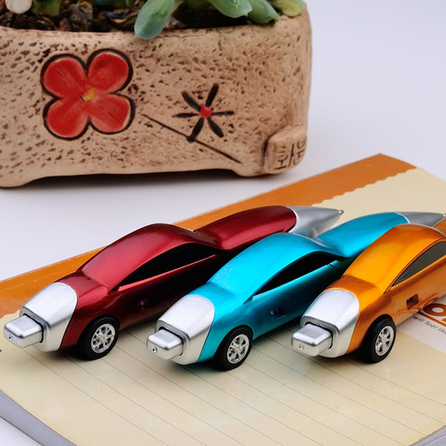 1PCS Funny Novelty Racing Car Design Ball Pens Portable Creative Ballpoint Pen Quality for Child Kids Toy Office School Supplies 2