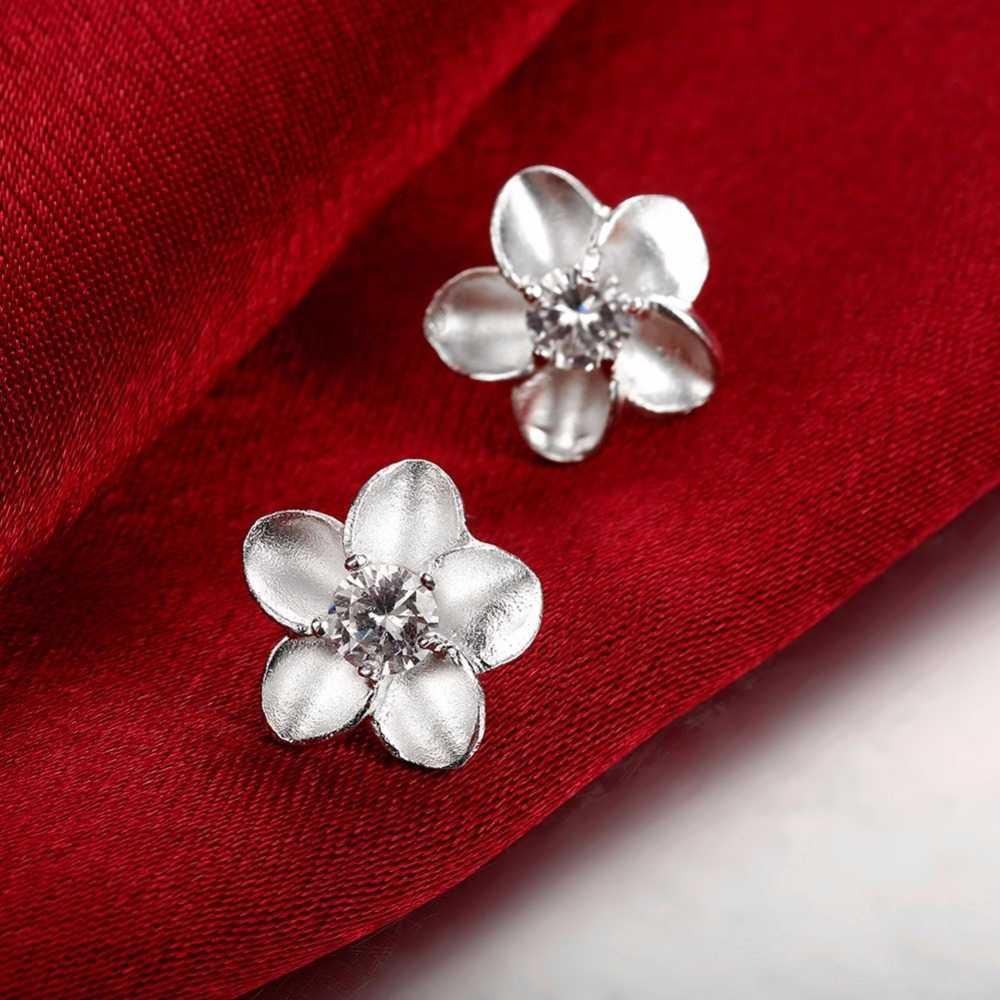 Несколько 925 штампованные посеребренные милые серьги-гвоздики для женщин и девушек 2018 модные минималистичные серьги гвоздики ювелирные изделия подарки