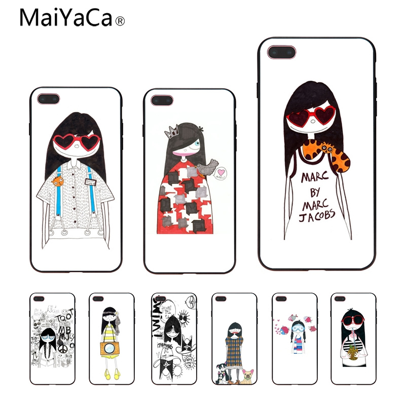 Detail Feedback Questions about MaiYaCa Marc. Jacobs Girl Cinderella Black  soft shell For Apple iPhone X 8 8plus 7 7plus 6 6s Cover on Aliexpress.com  ... 60c8e3ffe986