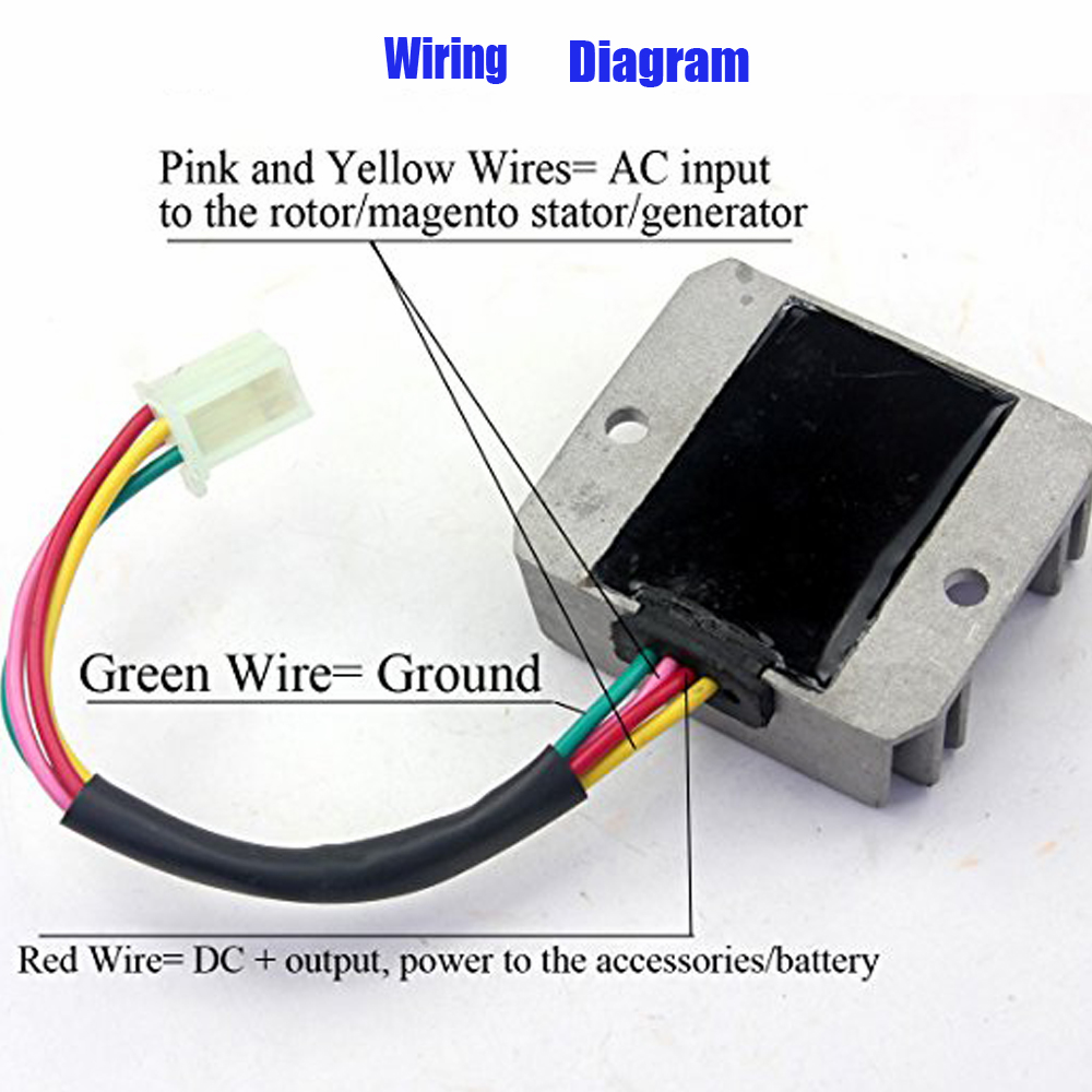 4 Wire Regulator Wiring Diagram For Scooter Nst Wires Voltage Rectifier Motorcycle Boat Motor4