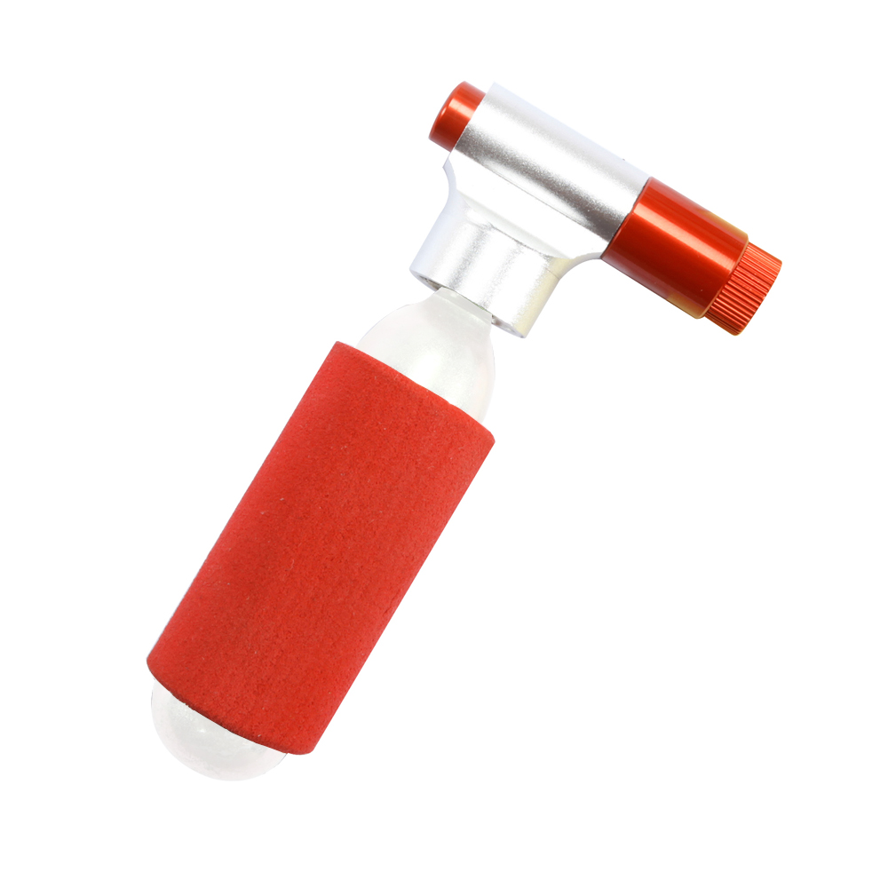Super Light 28g Mini Portable Mountain Bike Bicycle Air Pump Accessories CO2 Cartridge Dual Head Cycling Tire Pump Ball Inflator