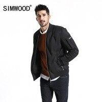 SIMWOOD Brand Jacket Men 2018 Autumn Winter Fashion Black Windbreaker Men Casual Thick Warm Coats Bomber Jackets Male 180603