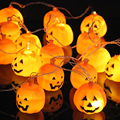 Halloween Decoration 3.5M 16pcs Pumpkin LED String Light Fairy String Garland Halloween Hanging Lantern Lamps 110V 220V