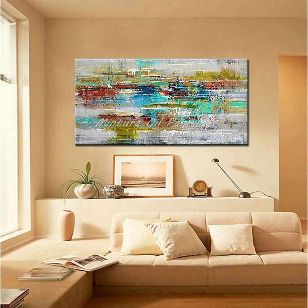 Mintura Art Большой размер Ручная роспись абстрактный пейзаж картина маслом на холсте современный настенный Декор картина для гостиной без рамы
