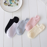 NEW 2018 Women Low Cotton Socks Fashion Boat Ankle Socks KP90 01 11
