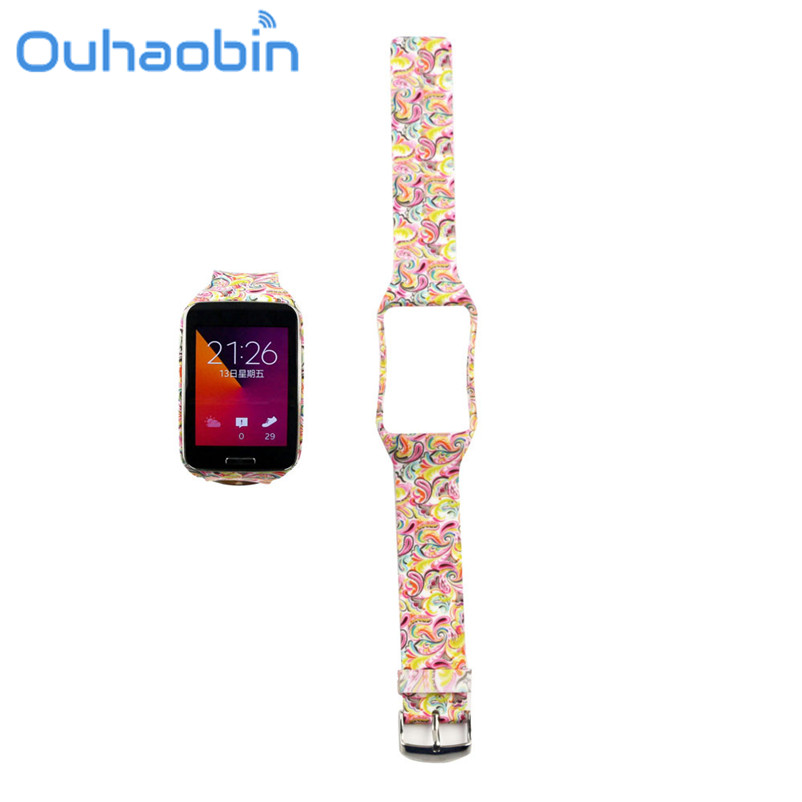 Ouhaobin Replacement Watch Wrist Strap Wristband for Samsung Galaxy Gear S R750 Oct 6 Dropship Wholesale