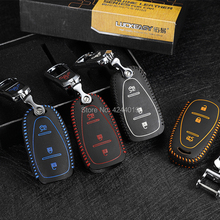 LUCKEASY Car Keychain Keyring Key Bag Fob Central Cover For Chevrolet TRAX 2017