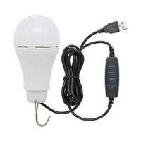 Bombilla LED USB para exteriores, 3 colores ajustables, linternas portátiles regulables para Camping, pesca, senderismo, tienda, lámpara nocturna de emergencia