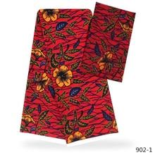 цена Silk Satin Chiffon Fabric  African Ankara Fabric 4+2 Yards/Piece Audel Fabricr Wax African Fabric Batik For Women 902