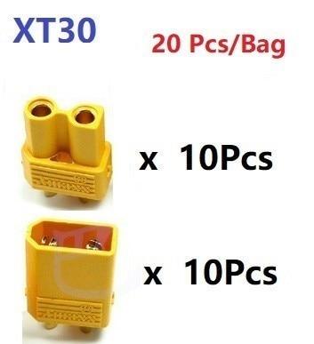 XT30 XT-30 штекер мужской женский пули Разъемы Вилки для RC Lipo батарея Квадрокоптер Мультикоптер для самолетов аксессуары Запчасти - Цвет: Красный