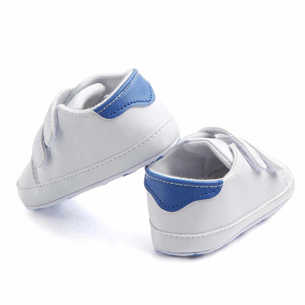 ทารกแรกเกิดรองเท้าเด็กแฟชั่น First Walkers เด็กวัยหัดเดิน Baby Boy เด็กอ่อนรองเท้ารองเท้าผ้าใบ Bebe 2018 ใหม่มาถึง @ 45