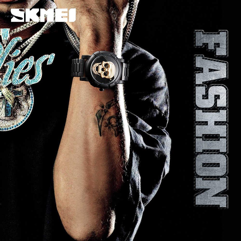 SKMEI mode Sport hommes montres Top marque luxe crâne montre hommes 3Bar étanche Quartz montres Relogio Masculino 9178