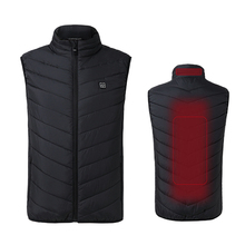 Men Winter Thick USB Heating Cotton Vest Outdoor Sleeveless Windbreaker Hiking Camping Trekking Climbing Fishing Jackets VA352