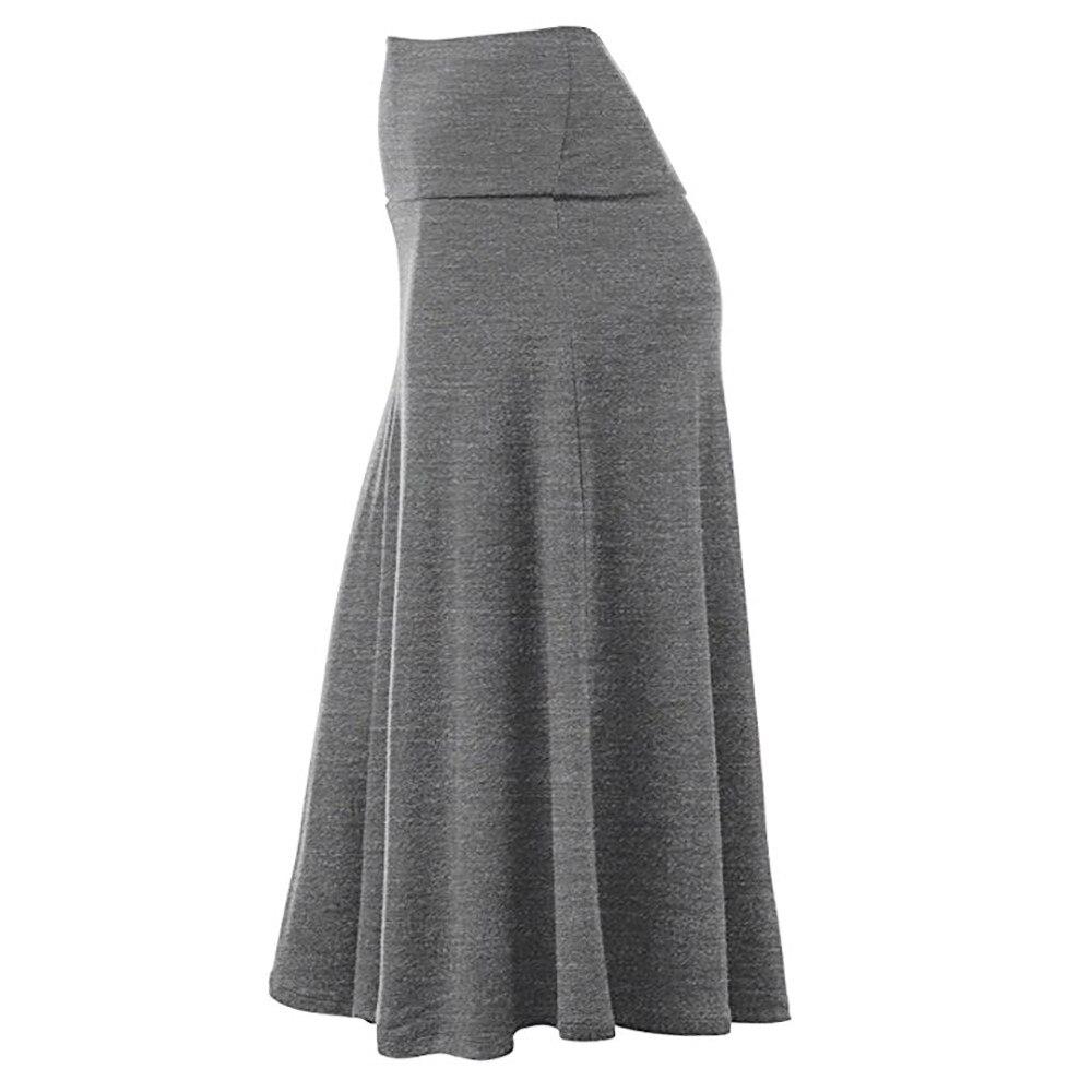 Mujeres más tamaño sólido Flare bajo alta cintura Midi falda Sexy uniforme  plisado falda ad7f08e25726