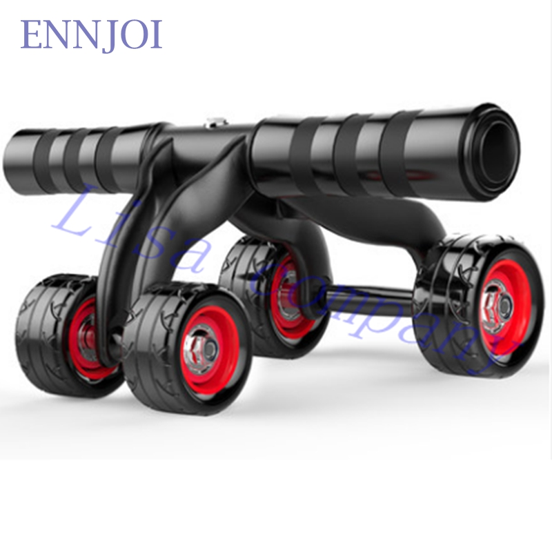 ENNJOI Four Wheels Abdominal Wheel Ab Roller font b Fitness b font Waist and Abdomen Exercise
