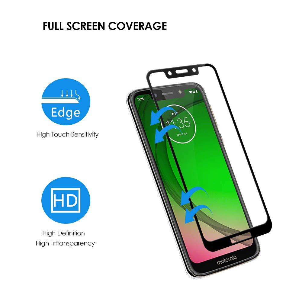 Screen Protector Protective 25 PCS 9H 5D Full Glue Full Screen Tempered Glass Film for Motorola Moto G6 Plus Glass Film
