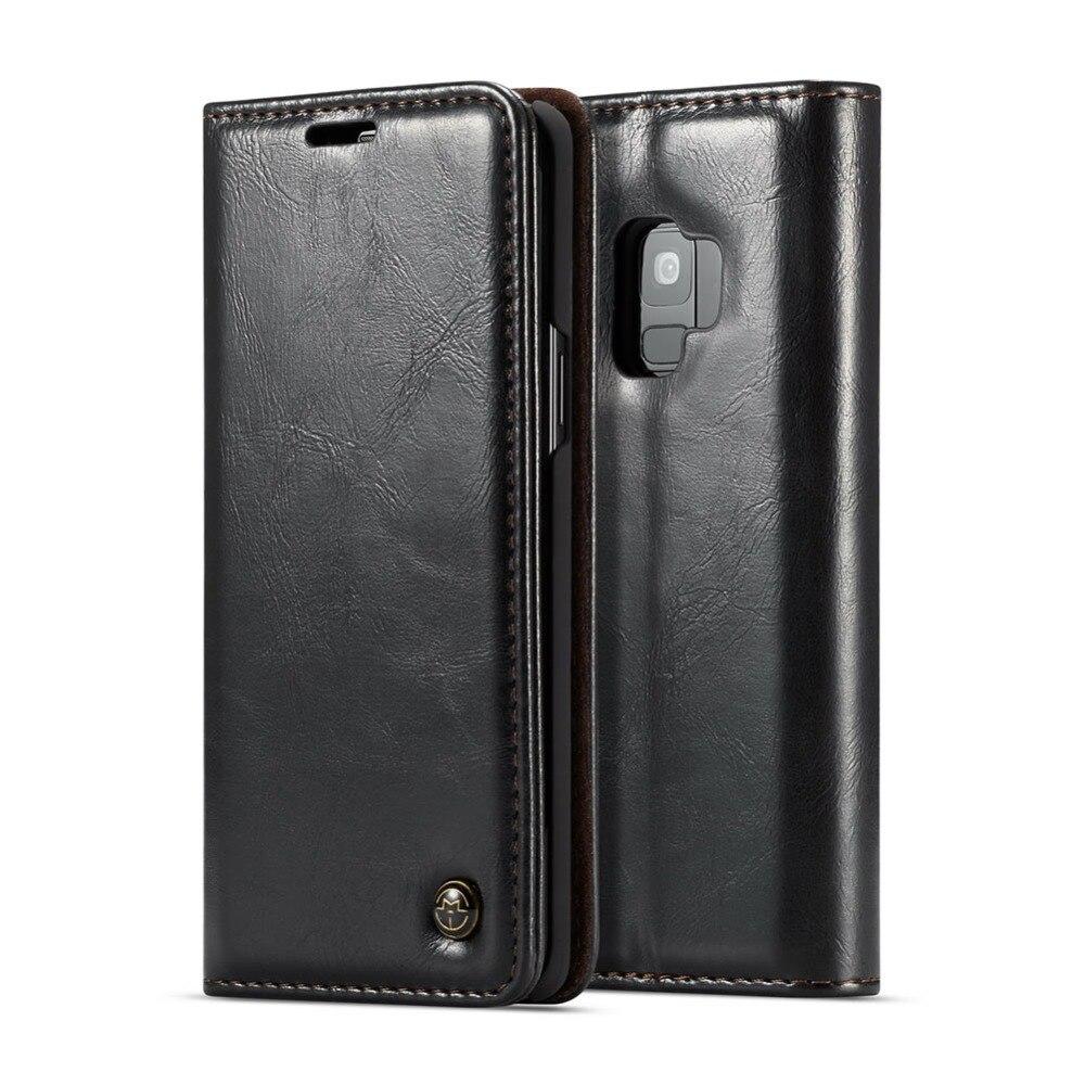 Pour Samsung Galaxy S9 S9Plus S8 S8Plus S7 S7 + Flip Portefeuille Cas Magnétique En Cuir Mobile Téléphone Cover Support à avec Carte Slots
